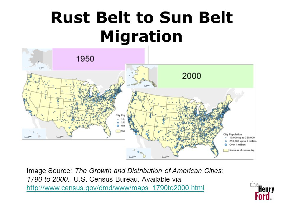 Rust Belt to Sun Belt Migration