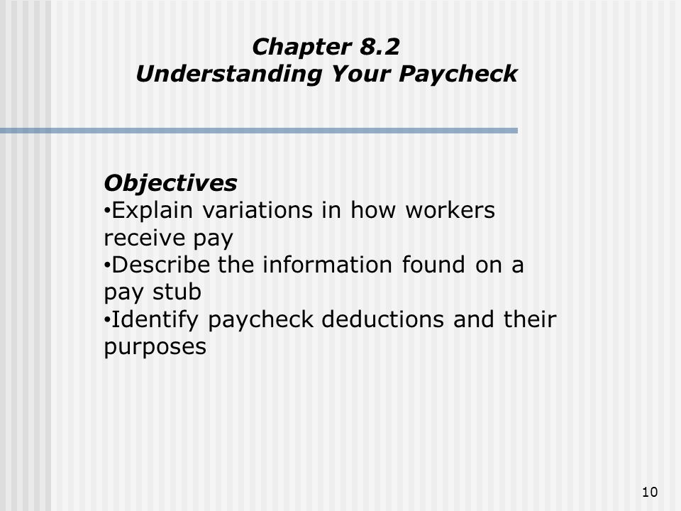 Understanding Your Paycheck