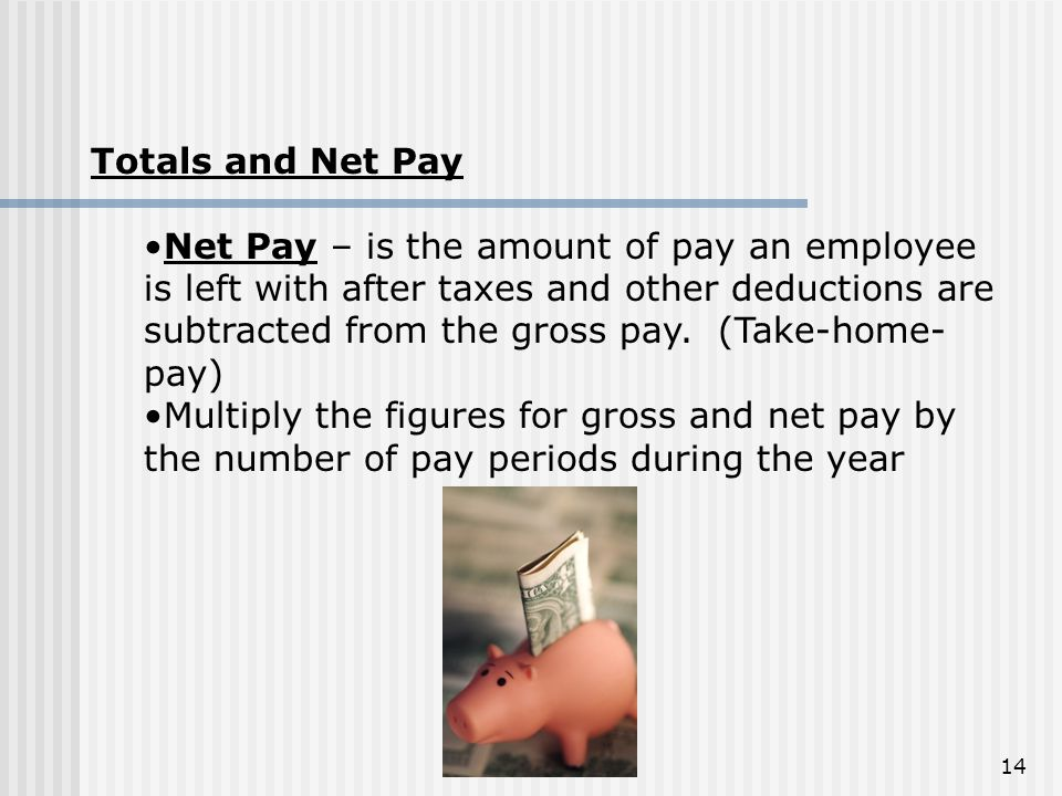 Totals and Net Pay