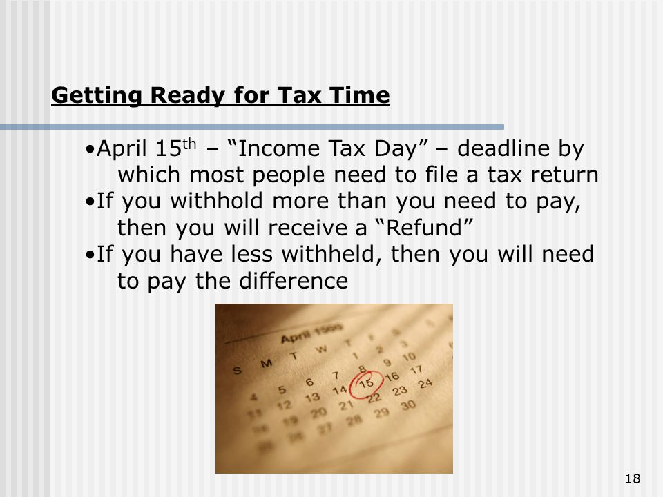 Getting Ready for Tax Time
