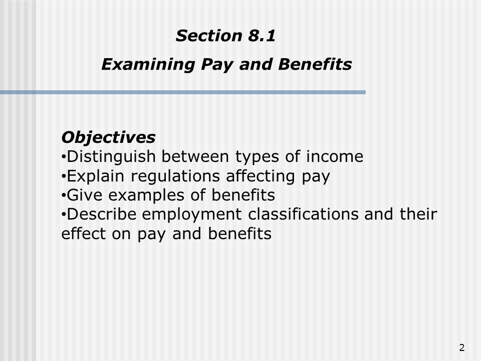 Examining Pay and Benefits