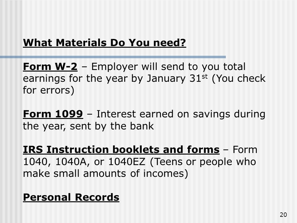 What Materials Do You need