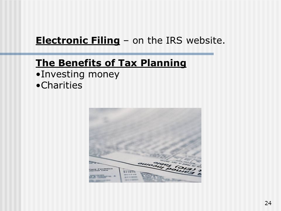 Electronic Filing – on the IRS website.