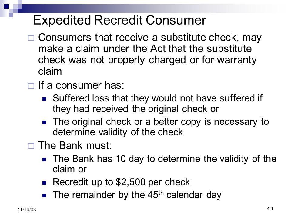 Expedited Recredit Consumer