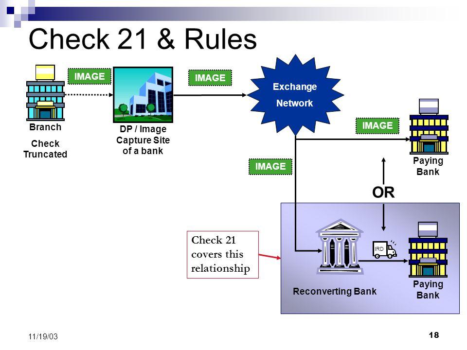 Check 21 and Image Exchange