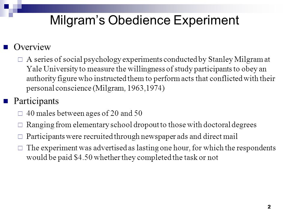 milgram s 1974 obedience to authority Obedience to authority is milgram's fascinating and troubling chronicle of his 1974 - political science milgram's obedience study continues to disturb.