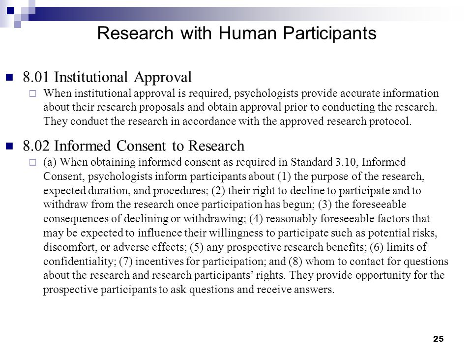 Research with Human Participants