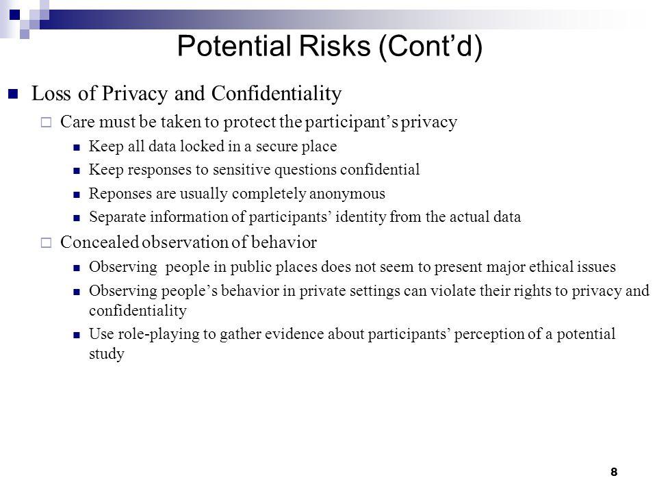 Potential Risks (Cont'd)