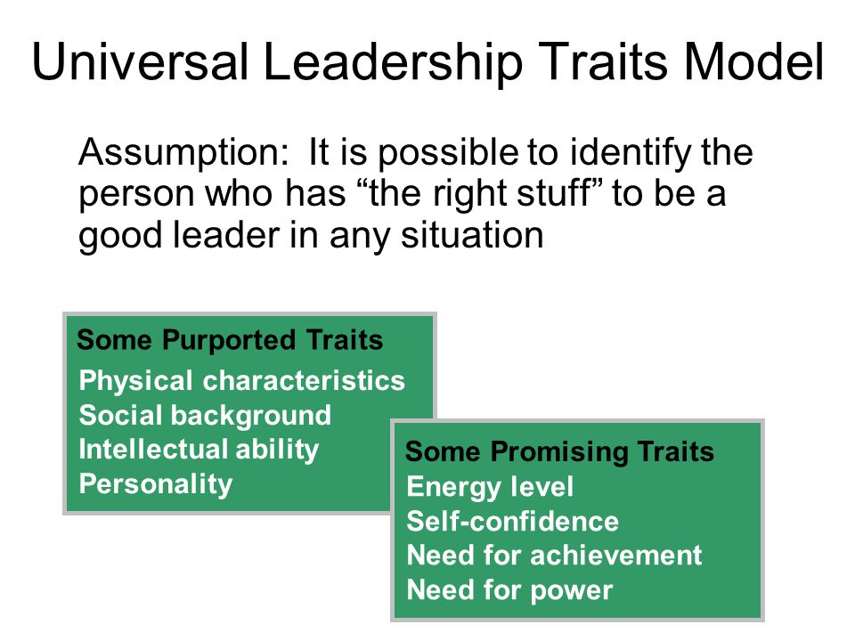 Universal Leadership Traits Model