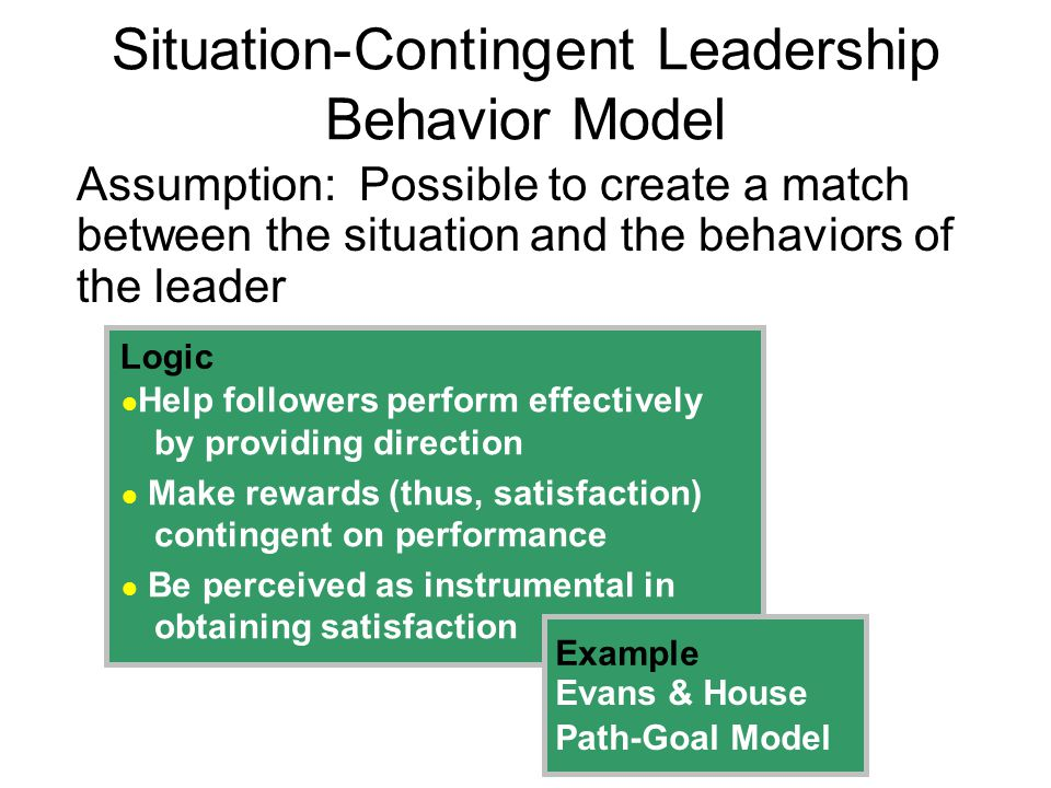 Situation-Contingent Leadership Behavior Model