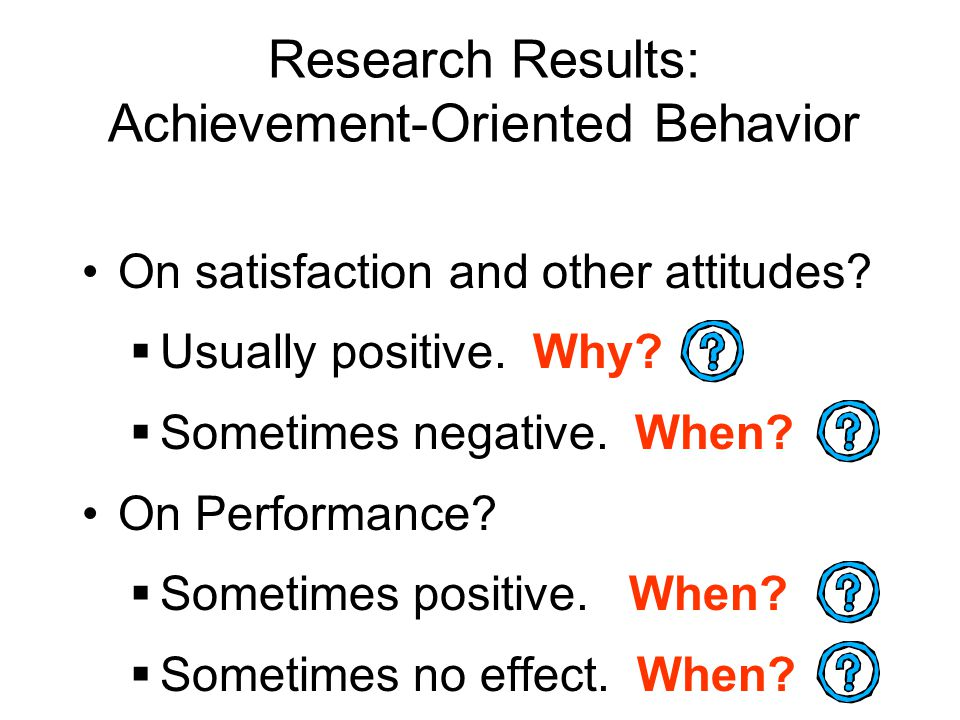 Research Results: Achievement-Oriented Behavior