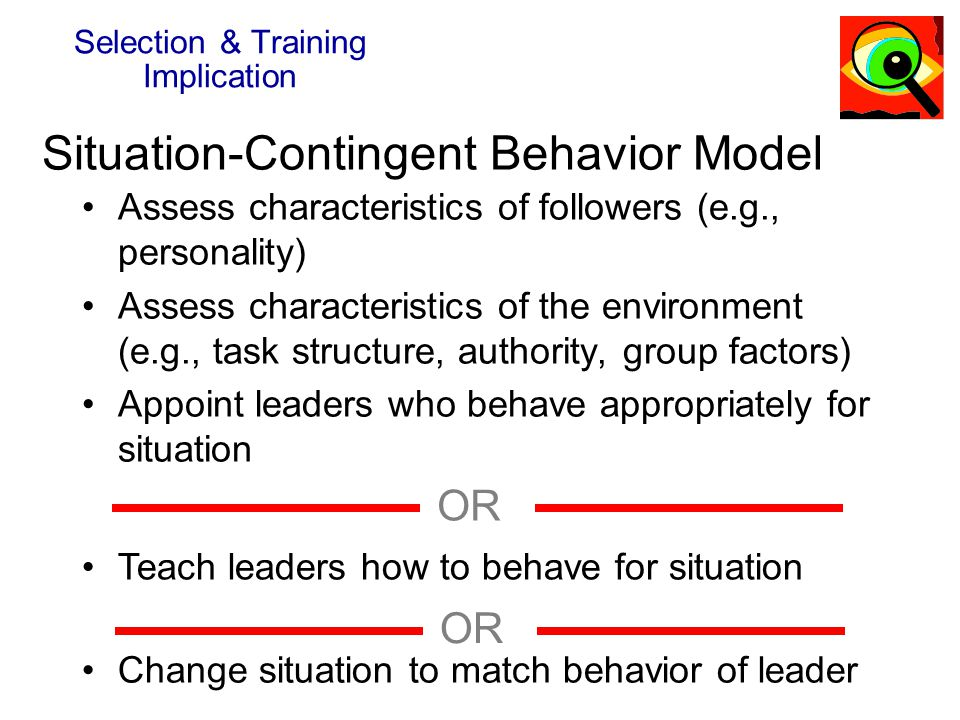 Situation-Contingent Behavior Model