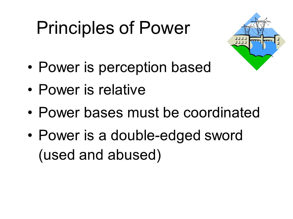Principles of Power Power is perception based Power is relative