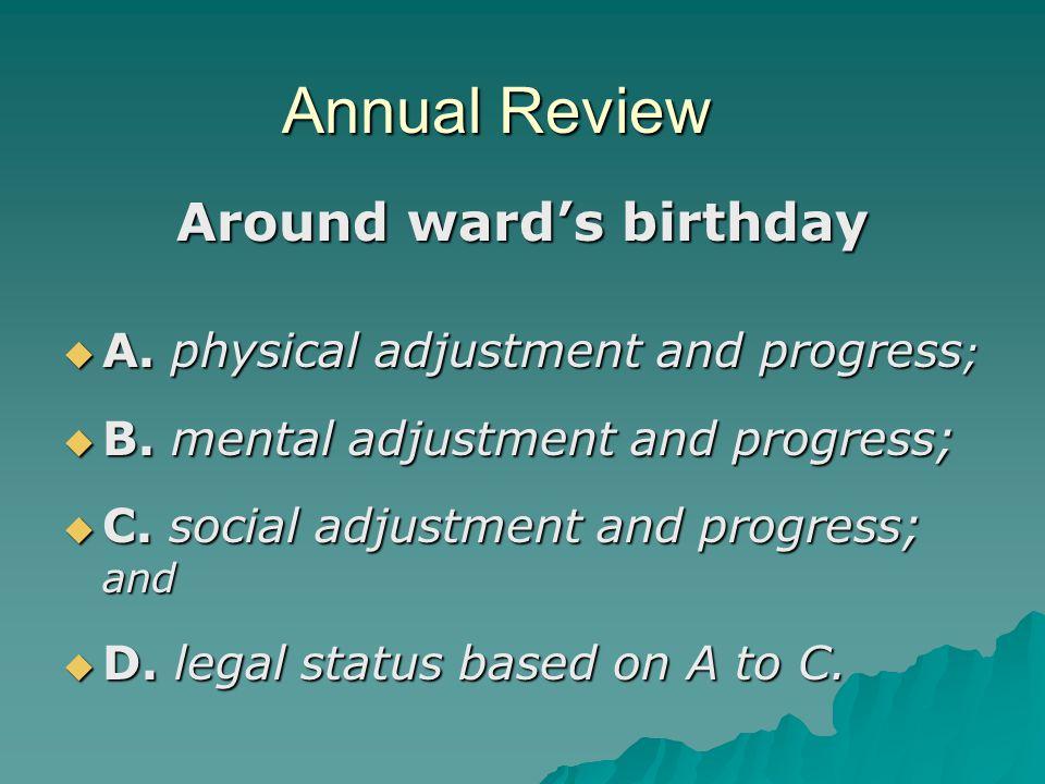 Around ward's birthday