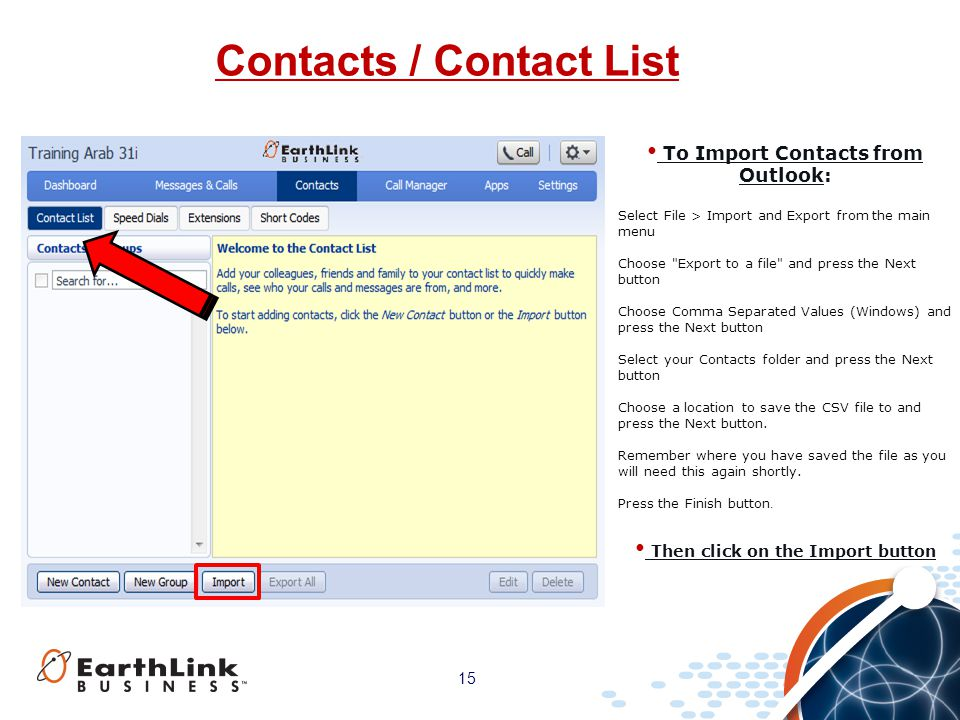 Contacts / Contact List