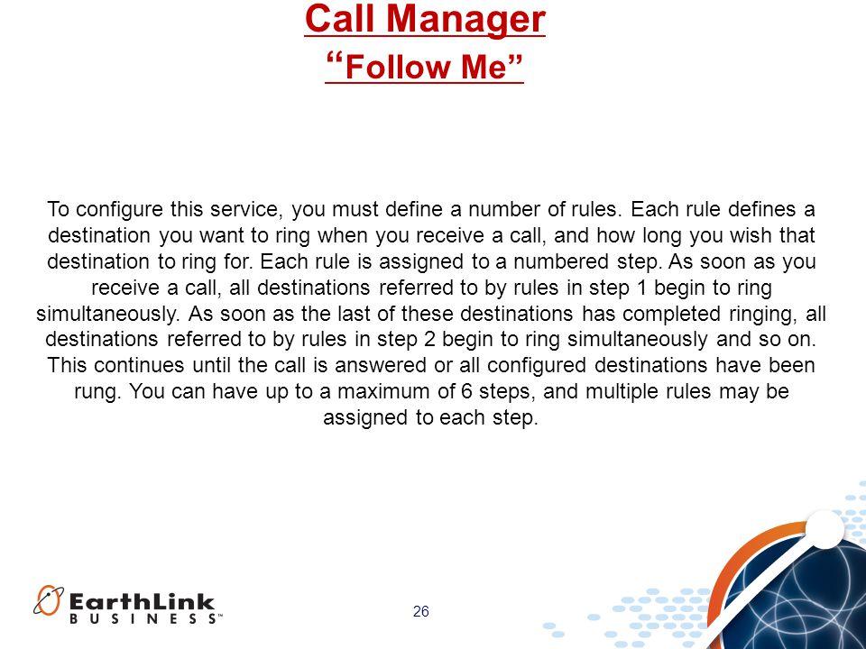 Call Manager Follow Me