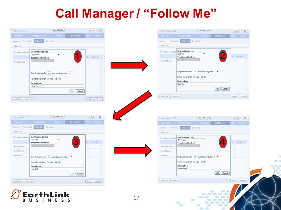 Call Manager / Follow Me