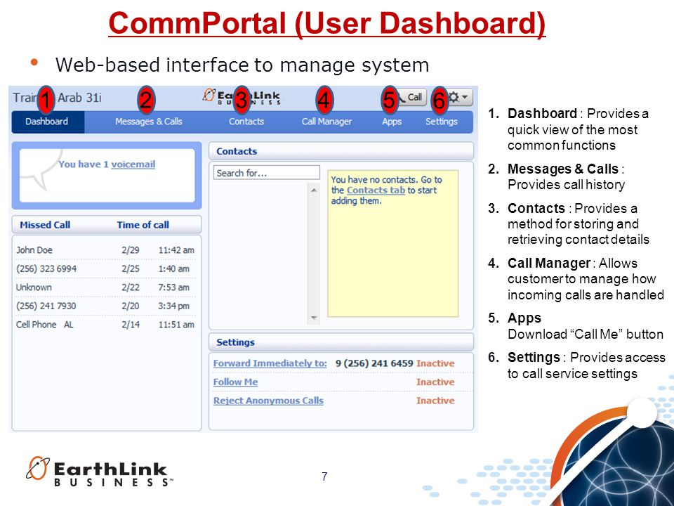 CommPortal (User Dashboard)