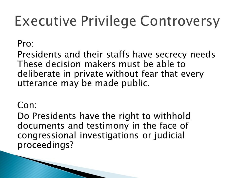 Executive Privilege Controversy