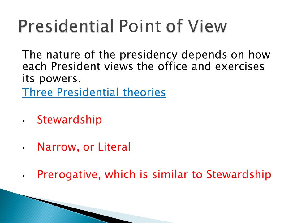 Presidential Point of View