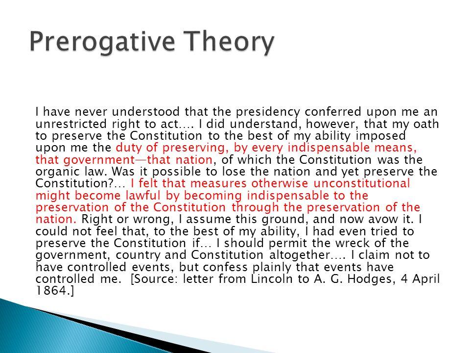 Prerogative Theory