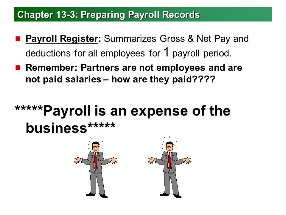 Chapter 13-3: Preparing Payroll Records
