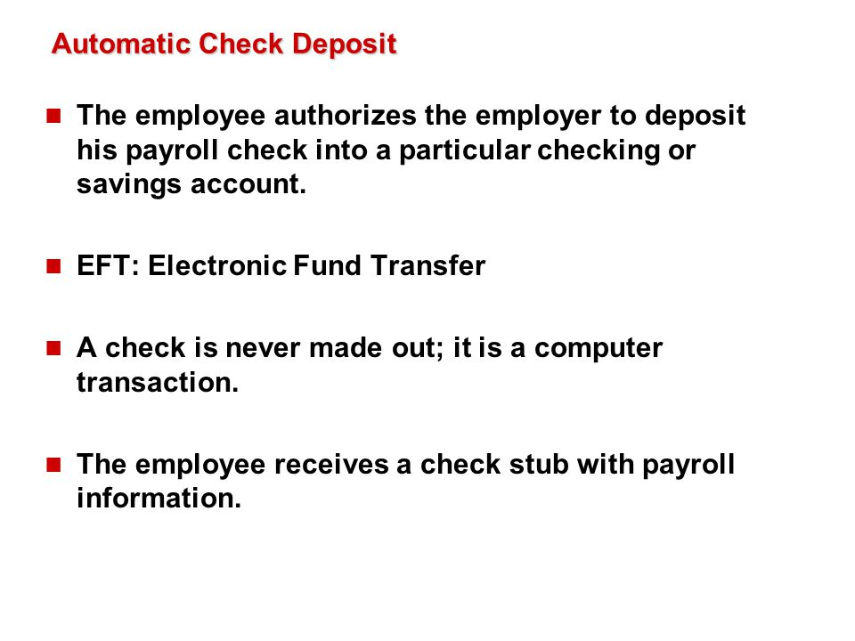 Automatic Check Deposit