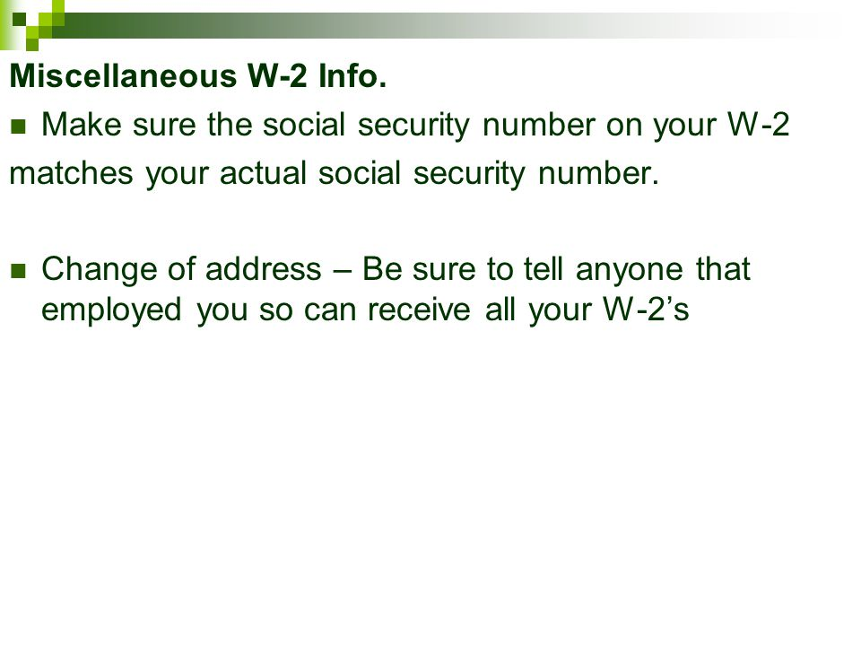 'Your Social Security number, please'