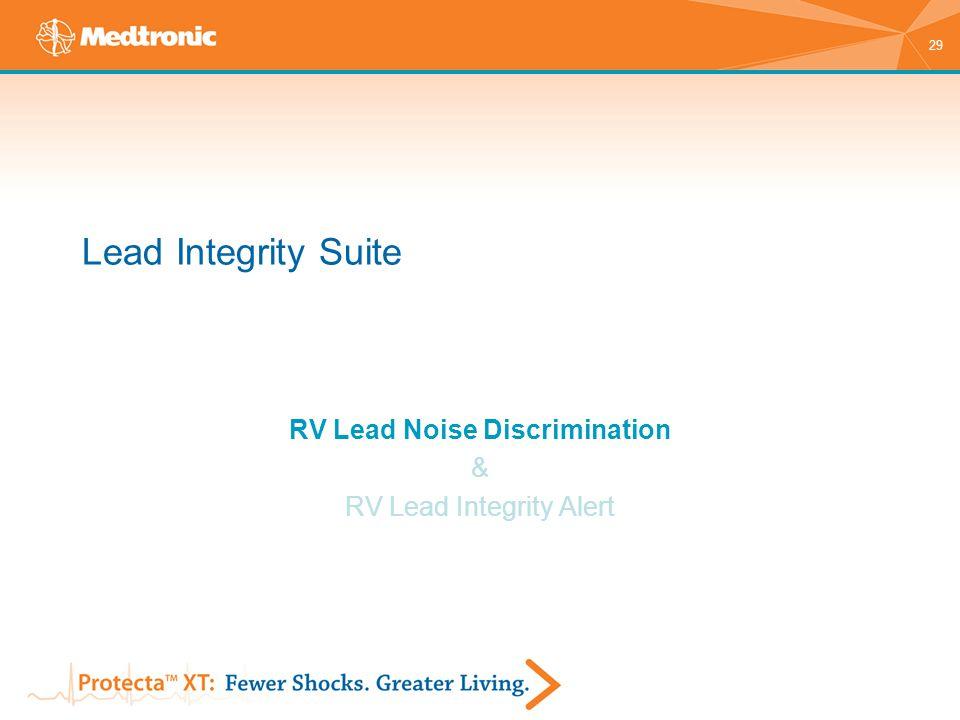 RV Lead Noise Discrimination & RV Lead Integrity Alert