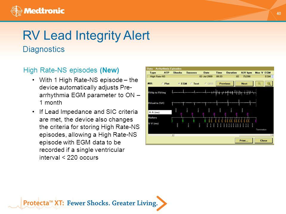 RV Lead Integrity Alert