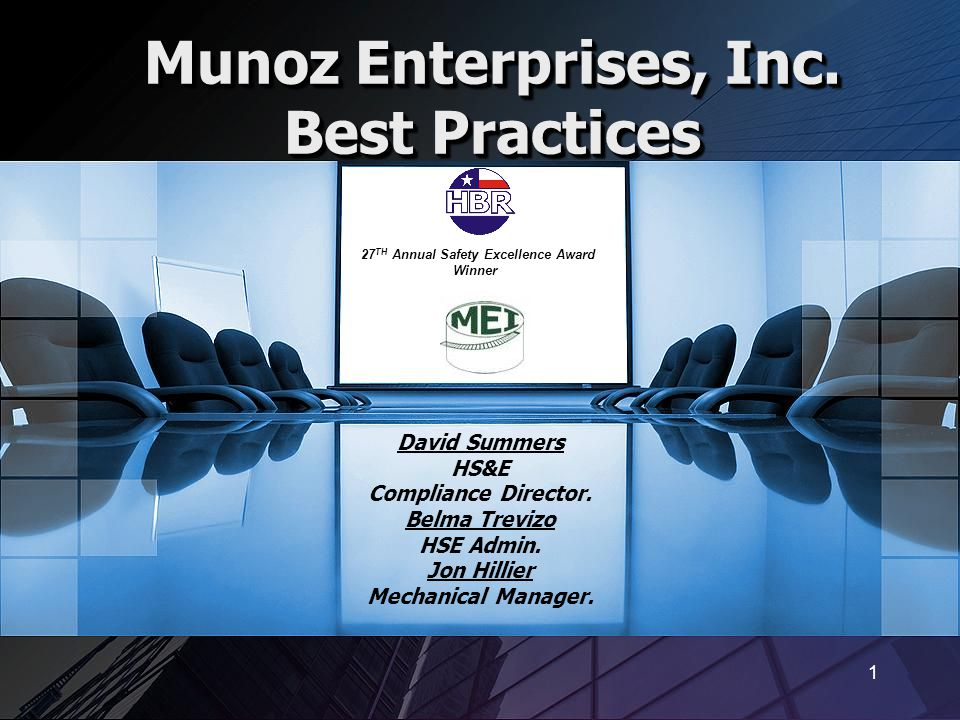 Munoz Enterprises, Inc. Best Practices
