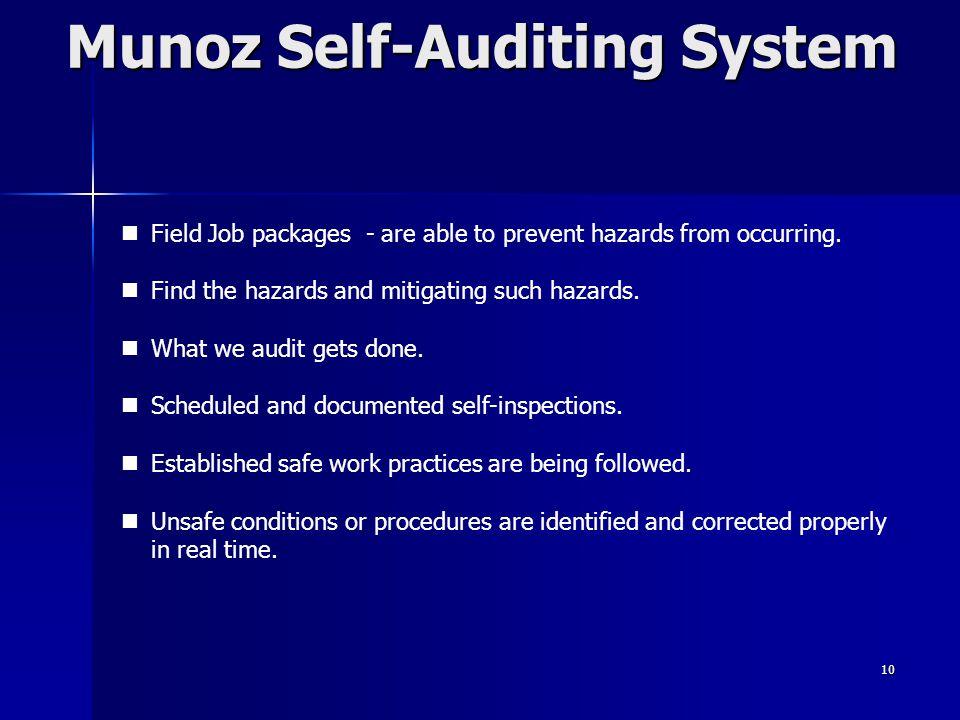 Munoz Self-Auditing System
