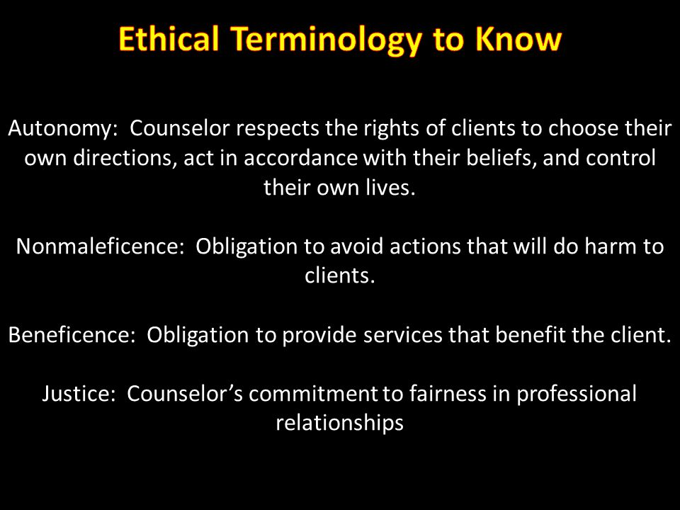 Ethical Terminology to Know