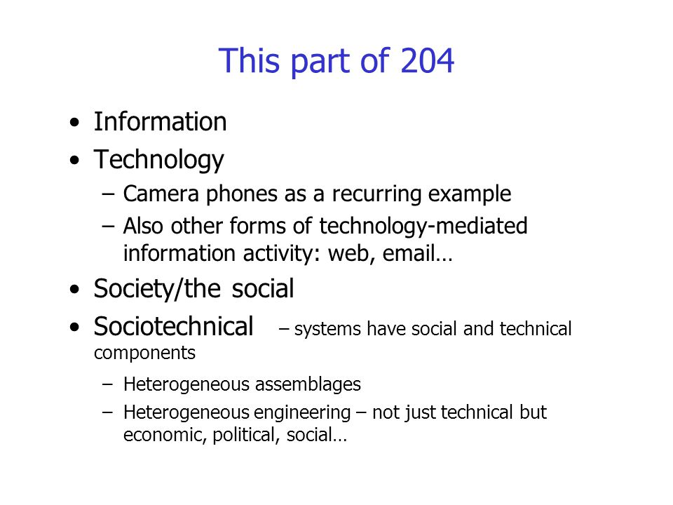 This part of 204 Information Technology Society/the social