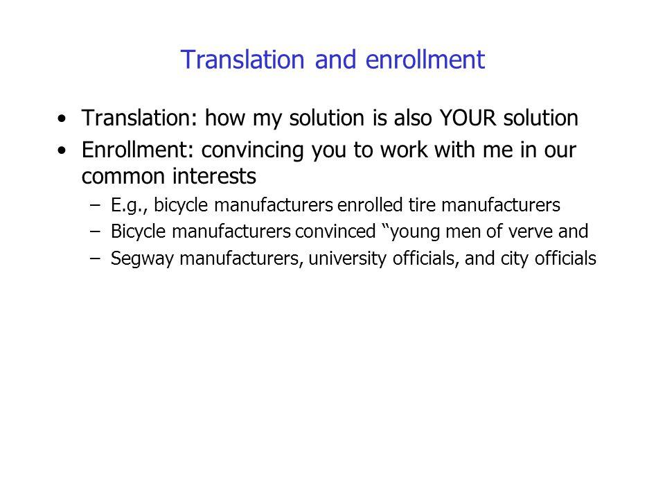 Translation and enrollment