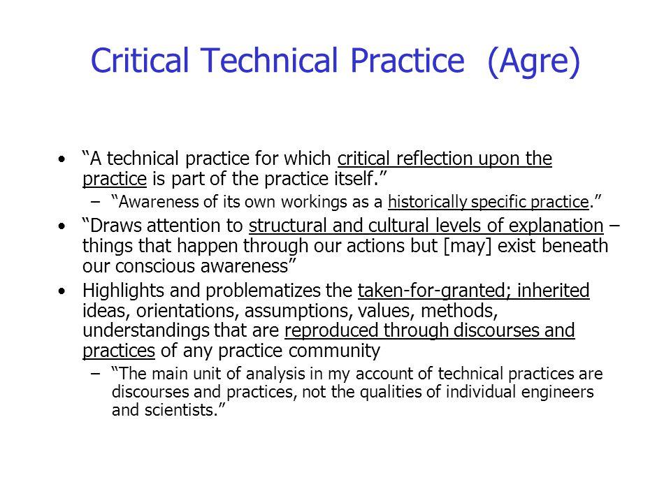 Critical Technical Practice (Agre)