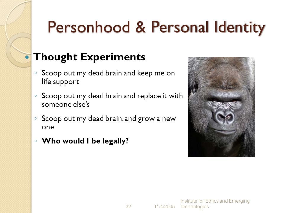 Personhood & Personal Identity