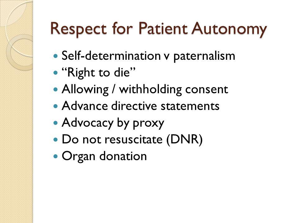Respect for Patient Autonomy