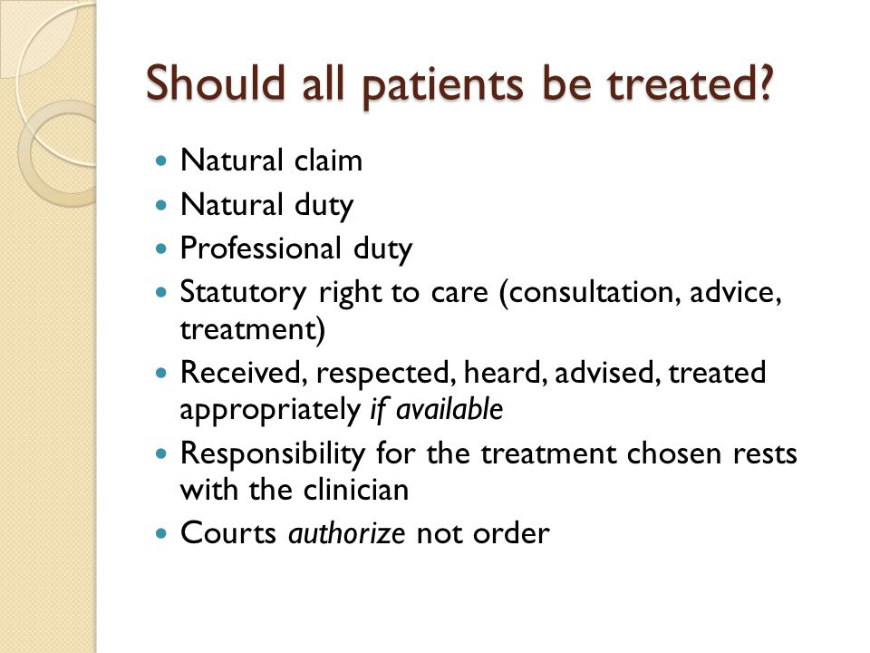Should all patients be treated