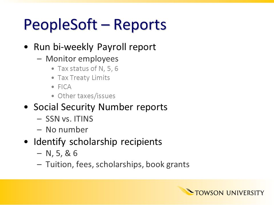 PeopleSoft – Reports Run bi-weekly Payroll report