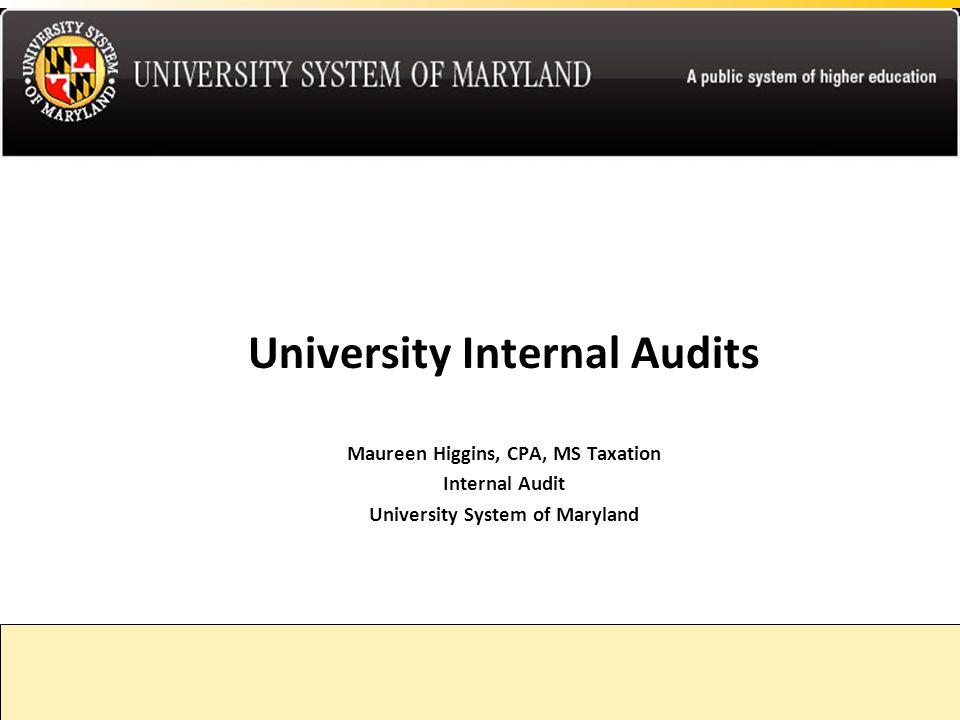University Internal Audits