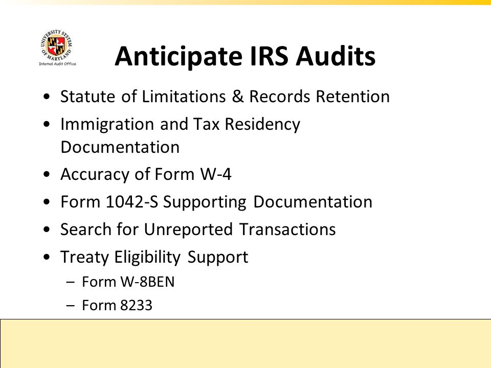 Anticipate IRS Audits Statute of Limitations & Records Retention