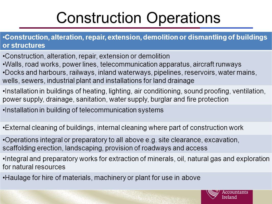 Construction Operations