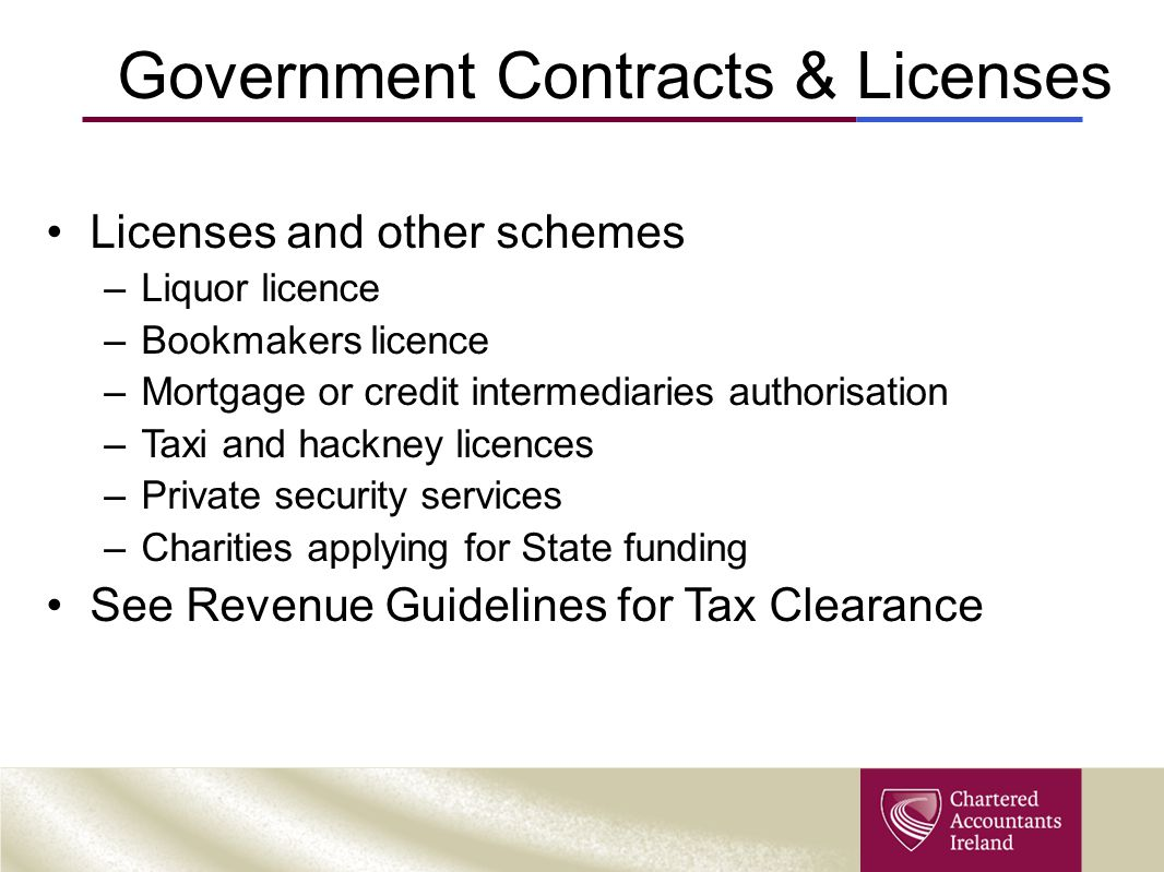 Government Contracts & Licenses