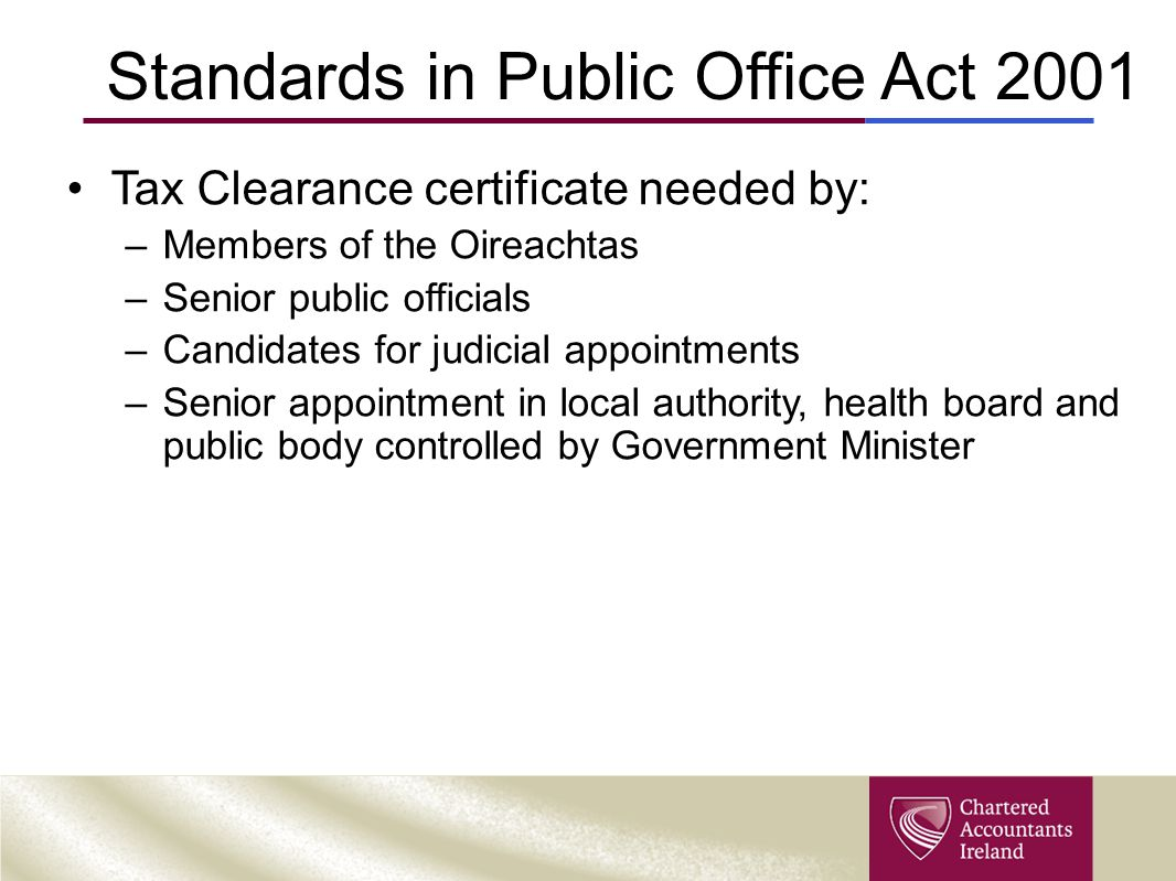 Standards in Public Office Act 2001