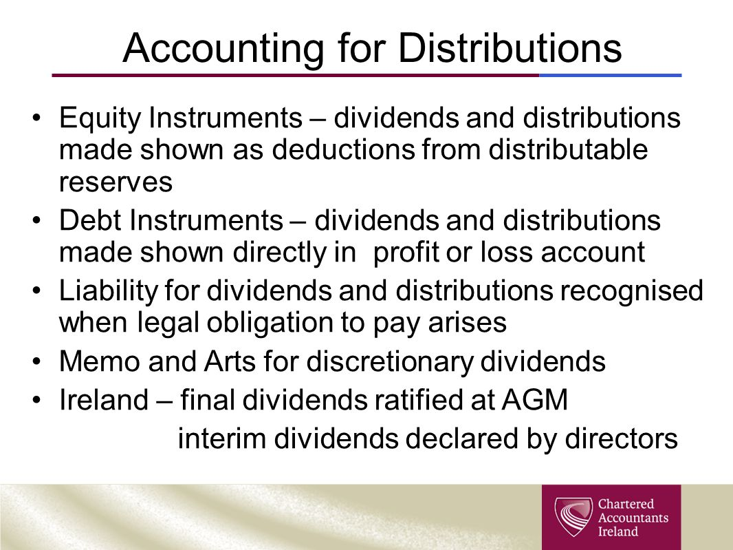 Accounting for Distributions