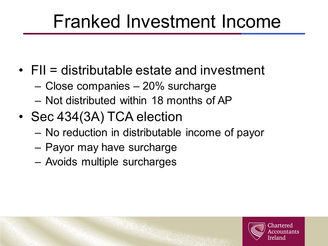 Franked Investment Income
