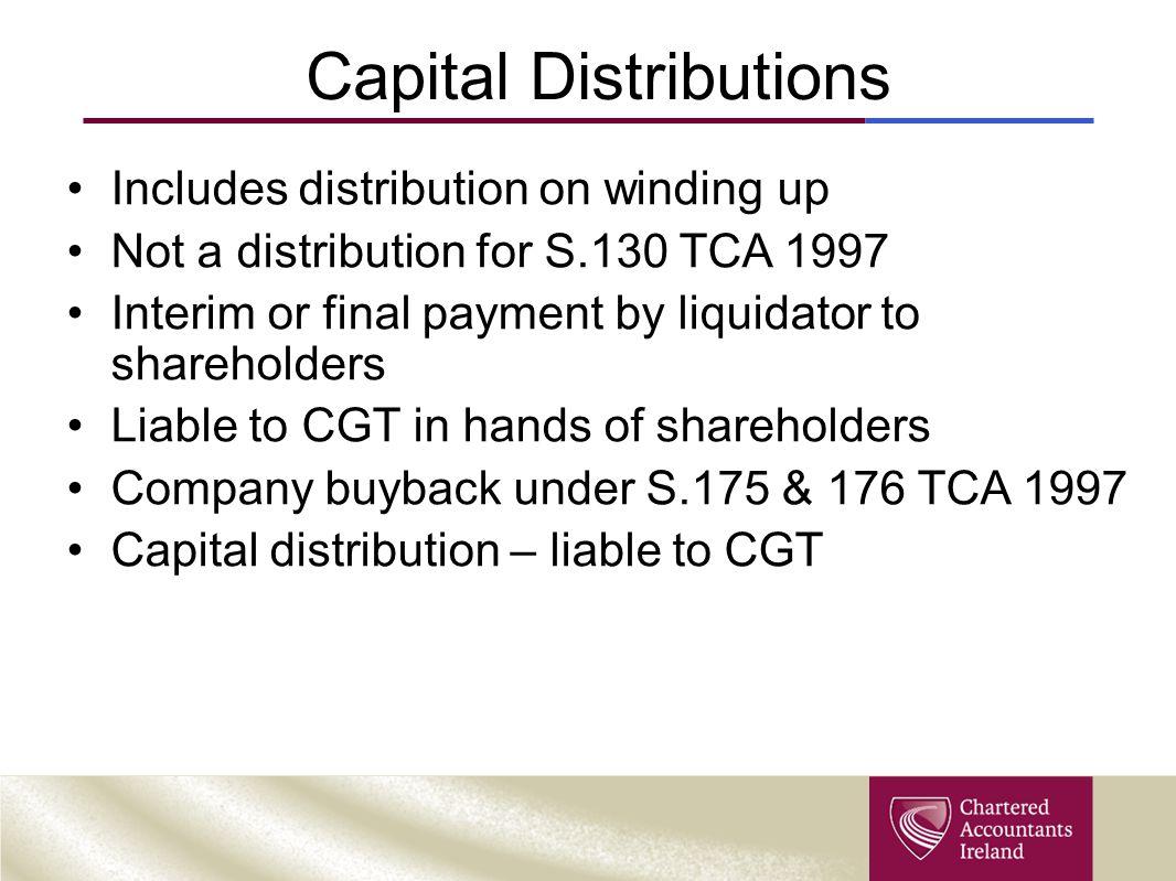 Capital Distributions