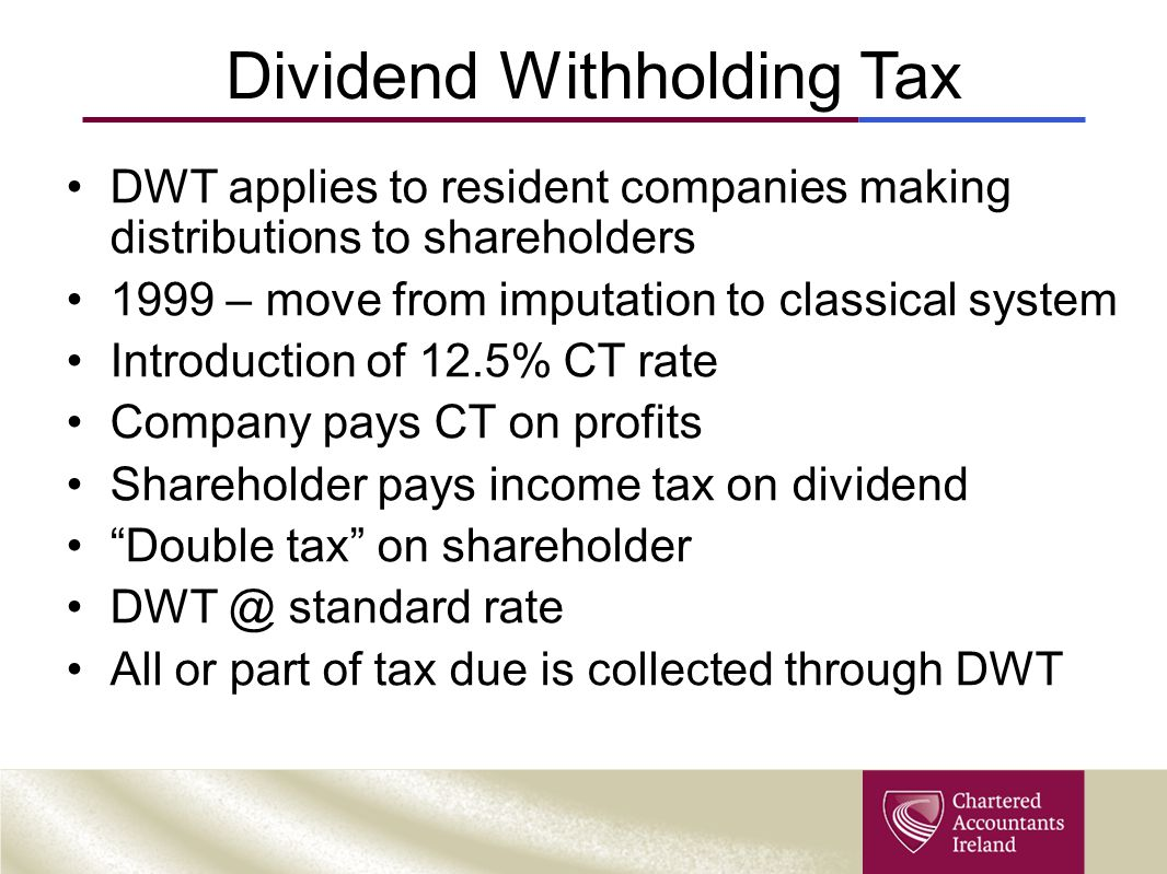 Dividend Withholding Tax