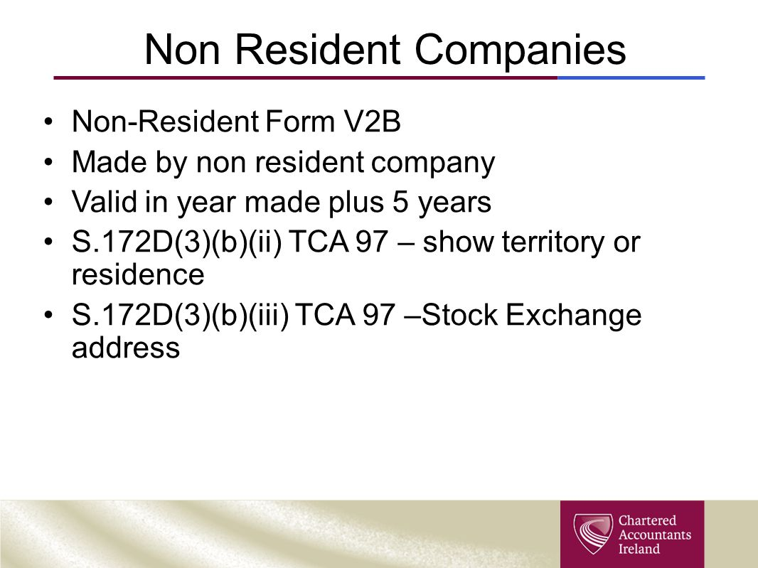 Non Resident Companies